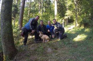 Philipp Räder mit seiner Gruppe auf der DM Bowhunter in Murrhardt