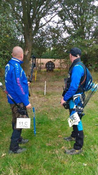 Ronny Schmidt (links) auf der DM Feld und Wald DBSV in Schmogrow-Fehrow