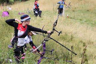 Daniela Klesmann trat bei der WM Feldbogen in Cortina d'Ampezza, Italien an den Pflock