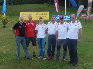 Franz mit seinen Mannschaftskollegen auf der WM HDH IAA