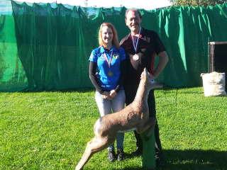 Auch Franz Tochter Daniela sicherte sich eine Medaille mit dem Compound auf der ÖM AAA 3D in Attergau