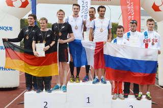 Ebenfalls 2. Platz des WE ging an die deutsche Herrenstaffel (Marco, Philipp & Niklas)