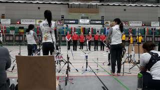 Auch Elsa Neumann trat bei den Berlin Open an und traf Koryphäen wie das koreanische Damenteam