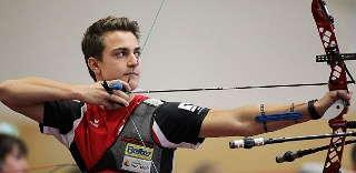 Moritz Wieser hatte beim Liga-Wettkampf in Tacherting seinen Heimat-Verein im Rücken