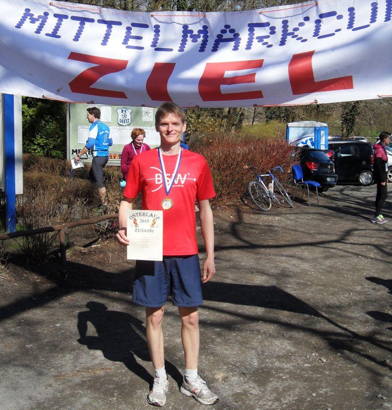 Bogenläufer Marco Kreische erzielt den zweiten Platz beim 12. Deetzer Osterlauf